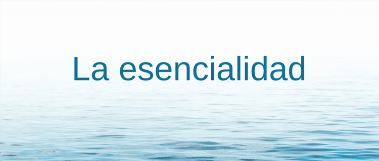 12. La esencialidad