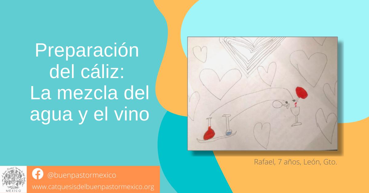 14. Preparación del cáliz: La mezcla del agua y el vino